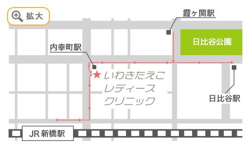 駅からのマップ
